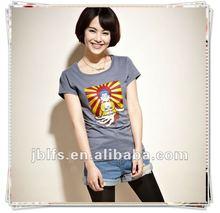 ladies short sleeves popular best-selling 100%cotton T shirt