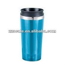Portable cup auto mug plastic advertisement