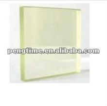 Shielding radiation glass