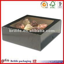 Black Cake Box With Window