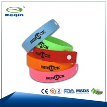 2014 fashion braclet silicone citronella oil mosquito bracelet for baby and childern