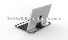 super thin aluminium bluetooth keyboard for new ipad ipad3 Black 10m remote conctrol