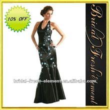 Hot Sale Long Halter Embroidered Pictures Formal Dresses Women
