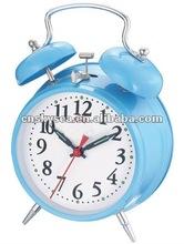 4.5 inches metal case mechanical windup alarm clock