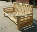 Madeira de pinho futon sofá cama de armação