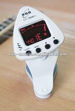 ENO MUSIC Newly design White Clip-on digital Tuner ET-3000+ for chromatic guitar bass violin viola