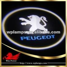 New arriving 2012 car logo light ghost shadow light Peugeot