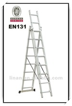 High quality and cheap aluminium alloy 3 section 27 steps extension ladder