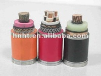 copper tape shielded XLPE power cable, XLPE insulated and PVC sheathed Armored NA2XYF power cable 95 mm2