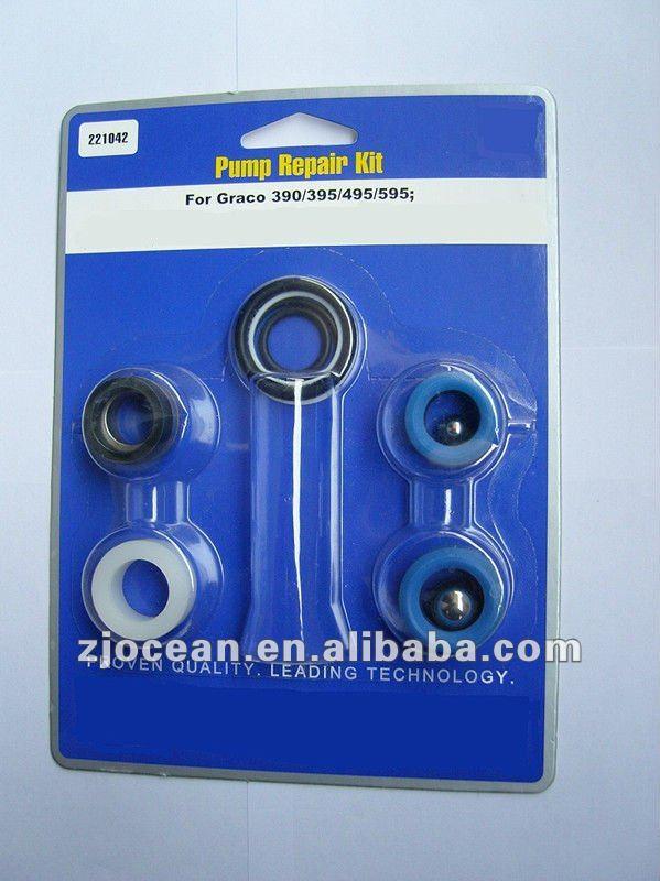 Pompe kit de réparation pour graco 390/395/490/495/595, rondelle ensemble, utilisé à pulvérisateur de peinture airless, les pièces du pulvérisateur