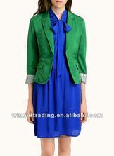2014 Popular Colourful fine knit blazer