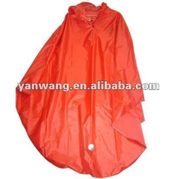 Waterproof Cheap Yellow red Polyester PVC bicycle rain poncho