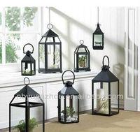 Metal candle holder lantern