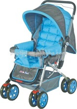 hot desigh attractive blue baby stroller pushchair pram baby jogger carrier 2059A with blue color inside wheels