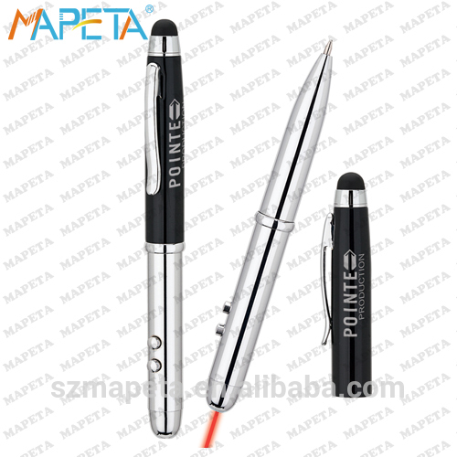 FACTORY DIRECT SELL !! Touch Screen Stylus Laser Pen (4 in 1 Stylus)