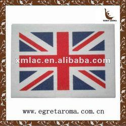 national flag paper car air freshener