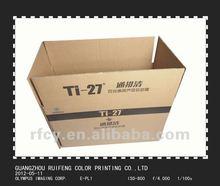 brown kraft paper corrugated carton box for shipping , cardboard box manufacturer