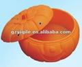 de dibujos animados forma de calabaza de plástico caja de arena juguetesdemadera para los niños