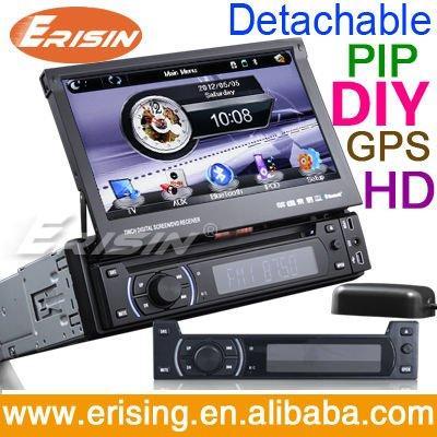 Erisin سيارات 1Din ES1013G USB / SD مشغل راديو GPS برنامج تطبيق السلام