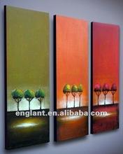 Wall art decorative glass tree painting