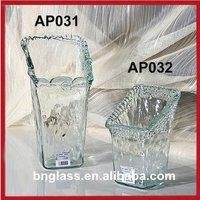 Spanish Style Slanted Openning Clear glass Vase