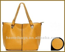 warm yellow!!!leather handbag shoulder bag women