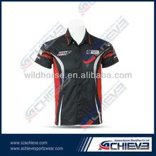 Custom moisture wicking motorcycle biker wear apparel