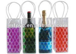 liquid filled ice bag, PVC wine bag, plastic ice bag