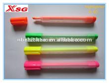 XSG non-toxic triangular highlighter pen , high quality ,4 pcs/ PVC Bag