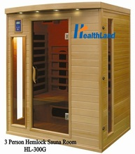 2012 Top Sale 3 Person Home Sauna HL-300G