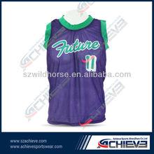 Long basketball shorts/retro basketball jersey for customer