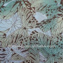 2012 latest new printed chiffon/75D 100% polyester butterfly spandex crepe chiffon fabric