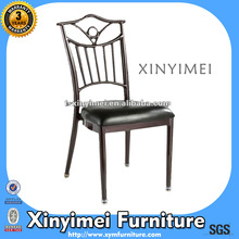 2012 foshan hotel metal Frame leather chair XYM-G40