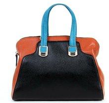 2012 Fashion leather handbag in color block