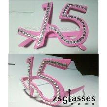 Custom gift sunglasses funny crazy rock party birthday diamond number /eyewear/frame 1518203456780 printing logo OEM