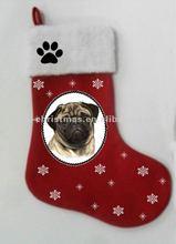 Perfect flet dog christmas socks series /animal Xmas socks