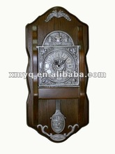 Wooden Giant Wall Clock Square Shape Brass Wall Clock