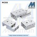 Mindman neumáticos de aluminio ferrocarril lineal del cilindro de doble efecto cilindro de diapositivas, la serie mcss