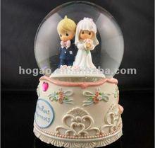 Resin custom snow globe for wedding