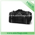 High Quality Durable Black Bungee duffel Bag,Sports Travel Bag With Dual sizes Pockets