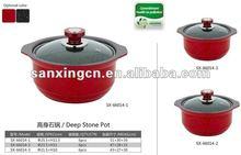 Deep Stone Pot marble pans and pots