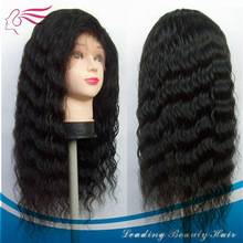 Wholesale good quality and not dry tangle free deep wave 100% European hair full lace wig