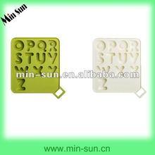 Resistente ao calor não - stick silicone carta/número do molde do bolo