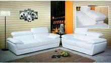 Luxury Italian modern leather white sofa sets YL2107A