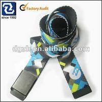 Fashion webbing belt, custom polyester web belts