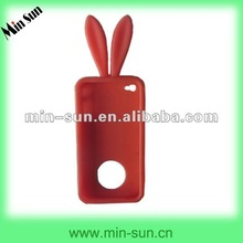 Hong Kong/Taiwan/Korea Popular Rabit Ear Silicone Mobile Phone Case