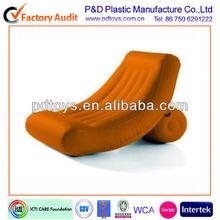 inflatable flocked handle sofa, blue sofa , inflatble cooler sofa