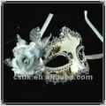 mascherata partito prom siliver fiore maschera principessa