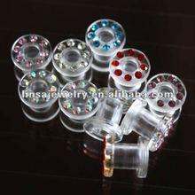Wholesale ear plug high quality UV acrylic body stretcher jewelry