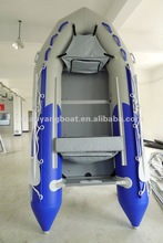 Blue and Grey Plywood Floor Inflatable Boat